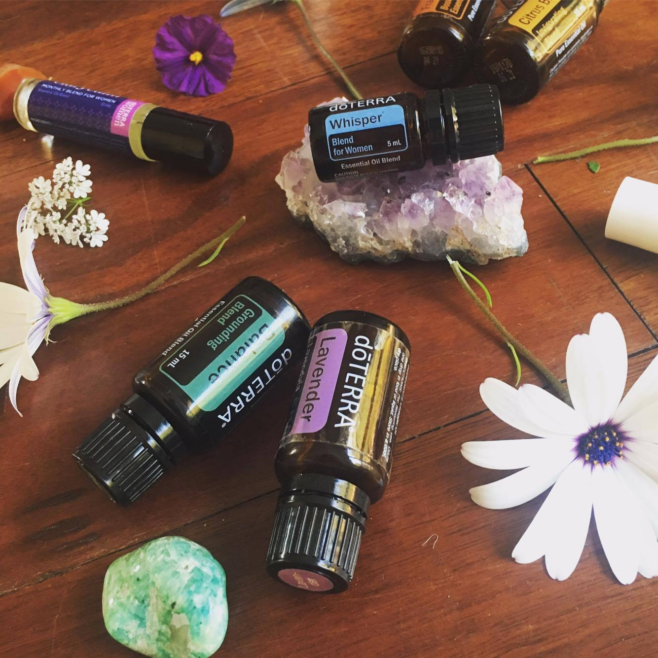 Oils to support femininity, self-love, PMS, hormone balancing, anxiety + radiant skin
